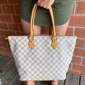 Louis Vuitton Saleya MM Damier Azur Shoulder Bag